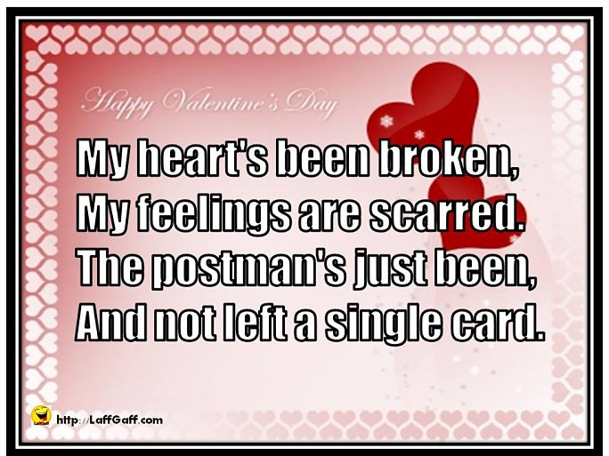 Funny Bitter Anti Valentines Day Poems  LaffGaff Home Of Laughter