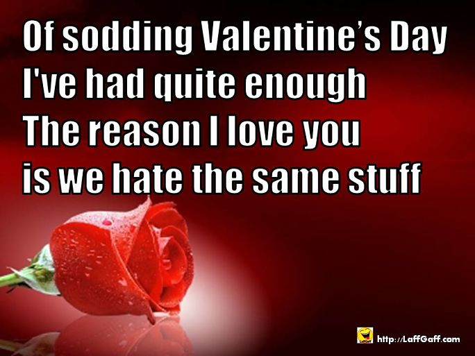 Had Enough - Funny Valentine's Poem