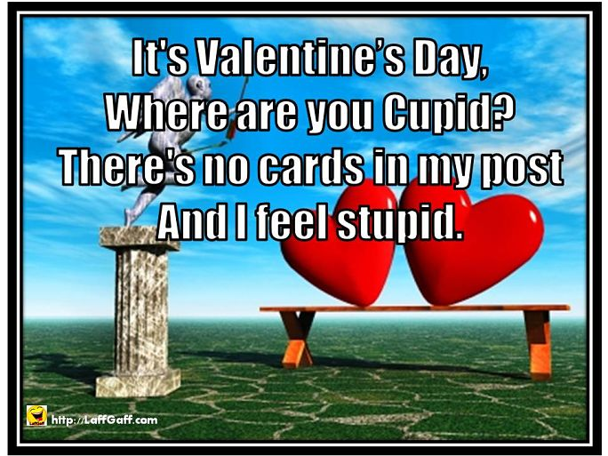 Where Are You Cupid - Funny Valentine Poem