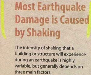 Earthquake Damage Funny Headline