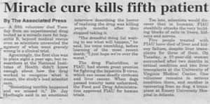 Miracle Cure Funny Headline
