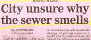 Sewer Smells Funny Headline
