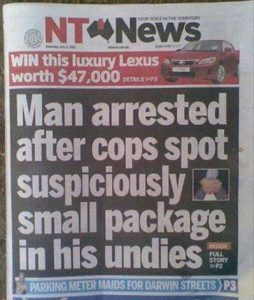 Small Package Funny Newspaper Headlines