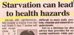 Starvation Funny Headline