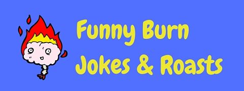 A selection of the best funny burn jokes