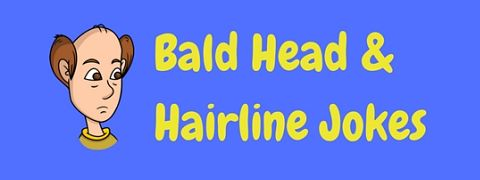 A selection of funny bald head and hairline jokes, roasts and one liners