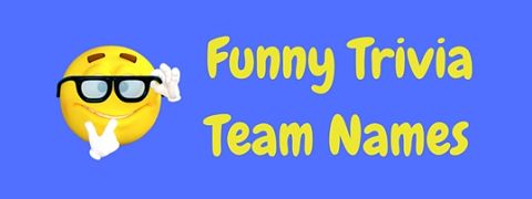 Witty and hilariously funny trivia team names