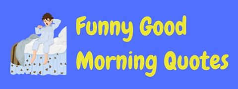 Featured image for a page of funny good morning quotes.