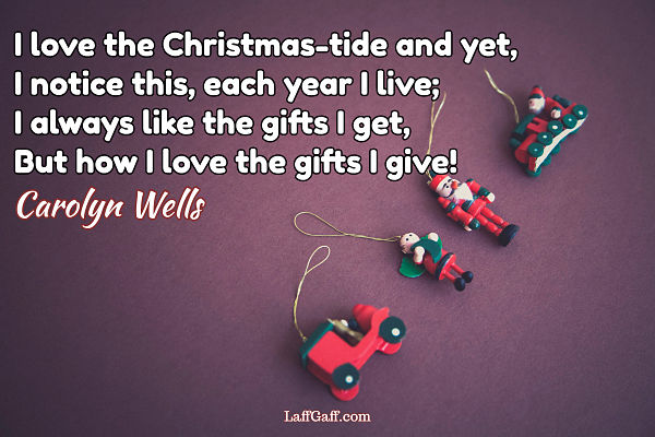 I Love The Christmas Tide - Carolyn Wells