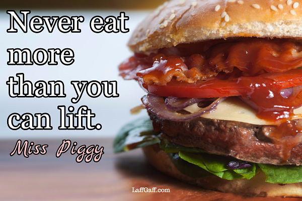 Funny Miss Piggy quote about eating