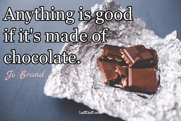 Jo Brand quote about chocolate
