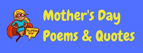 Featured image for a page of funny Mothers Day poems and quotes.