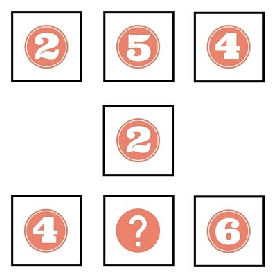 Which number is missing from the square?