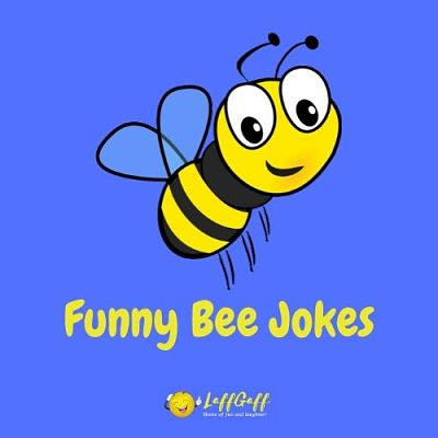 Featured image for a page of funny bee jokes and puns.