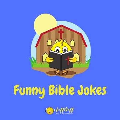 Featured image for a page of funny bible jokes and puns.