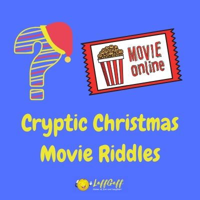 Featured image for a page of cryptic Christmas movie riddles.