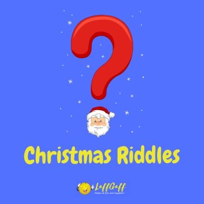 Featured image for a page of Christmas riddles.