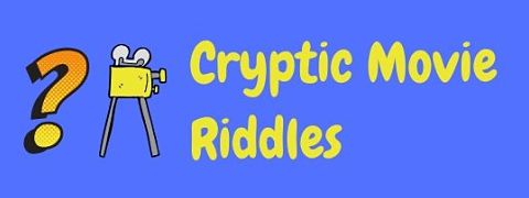 Header image for a page of cryptic movie riddles.