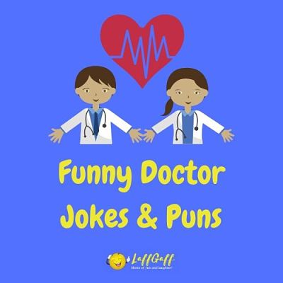 Featured image for a page of funny doctor jokes and puns.