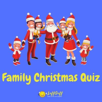 Featured image for a page with a family Christmas quiz.