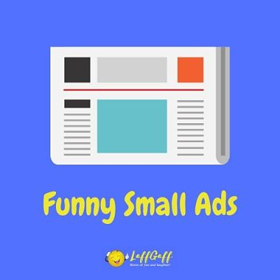 Featured image for a page of funny small ads.