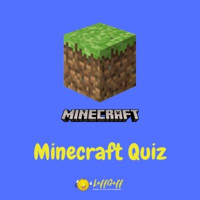 Featured image for a page with a free Minecraft quiz.