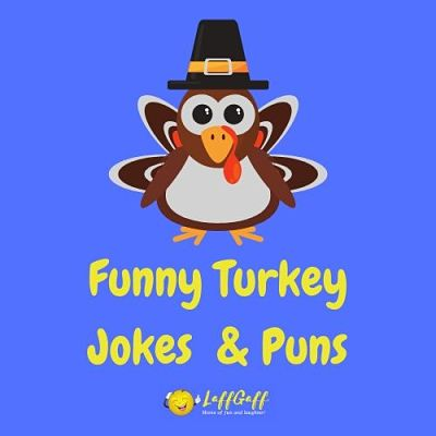 Featured image for a page of funny turkey puns and jokes.