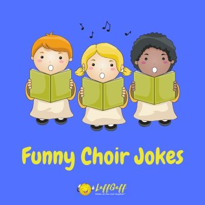 Featured image for a page of funny choir jokes.