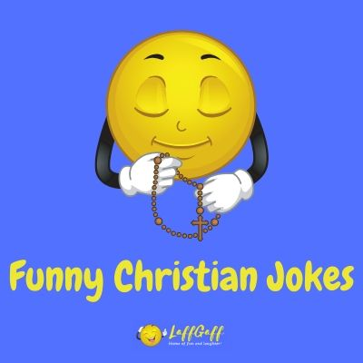 Featured image for a page of funny Christian jokes and puns.