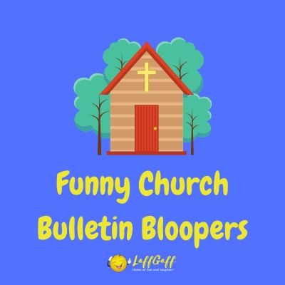 Featured image for a page of funny church bulletin bloopers.