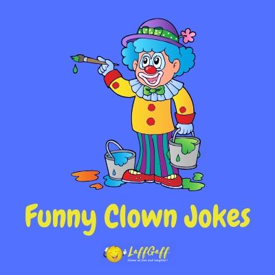 Featured image for a page of funny clown jokes and puns.