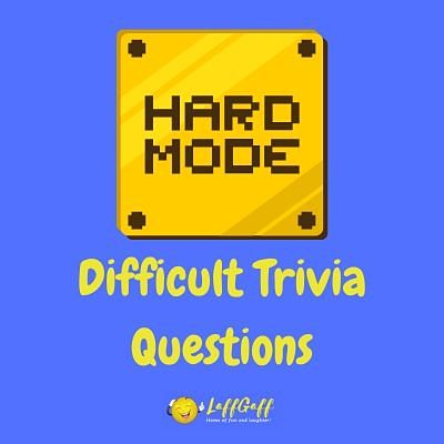 Featured image for a page of really difficult trivia questions and answers.