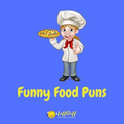 Featured image for a selection of funny food puns.