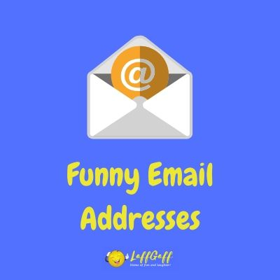 Featured image for a selection of hilariously funny email addresses - all genuine!