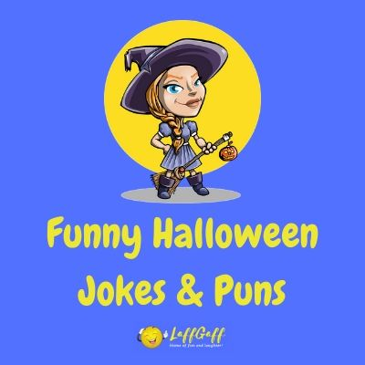 Featured image for a page of funny Halloween jokes and puns.