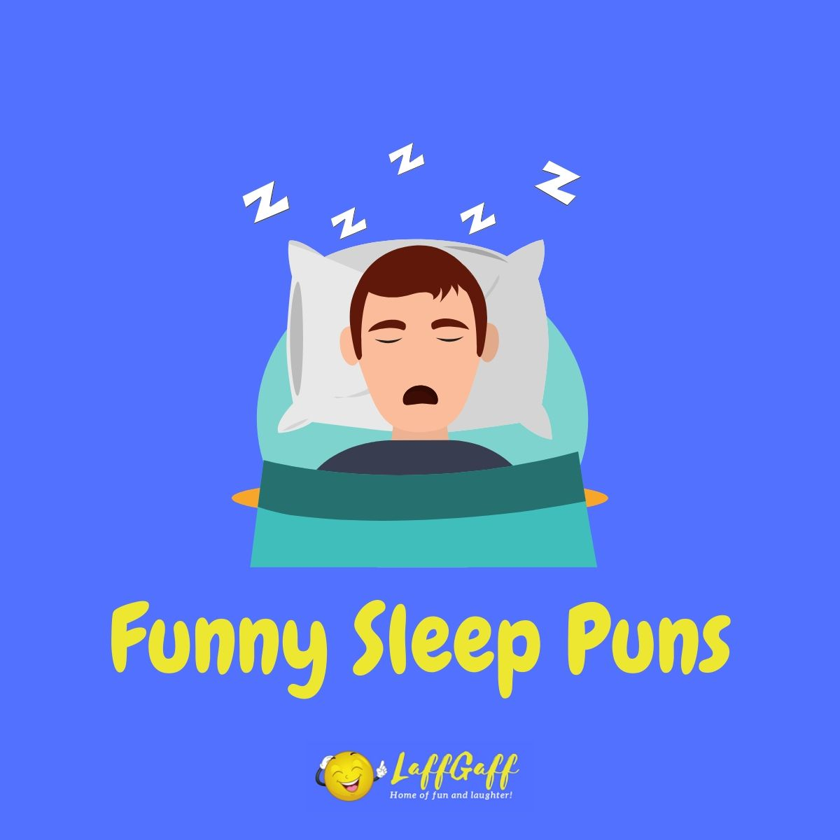 Featured image for a page of funny sleep puns.