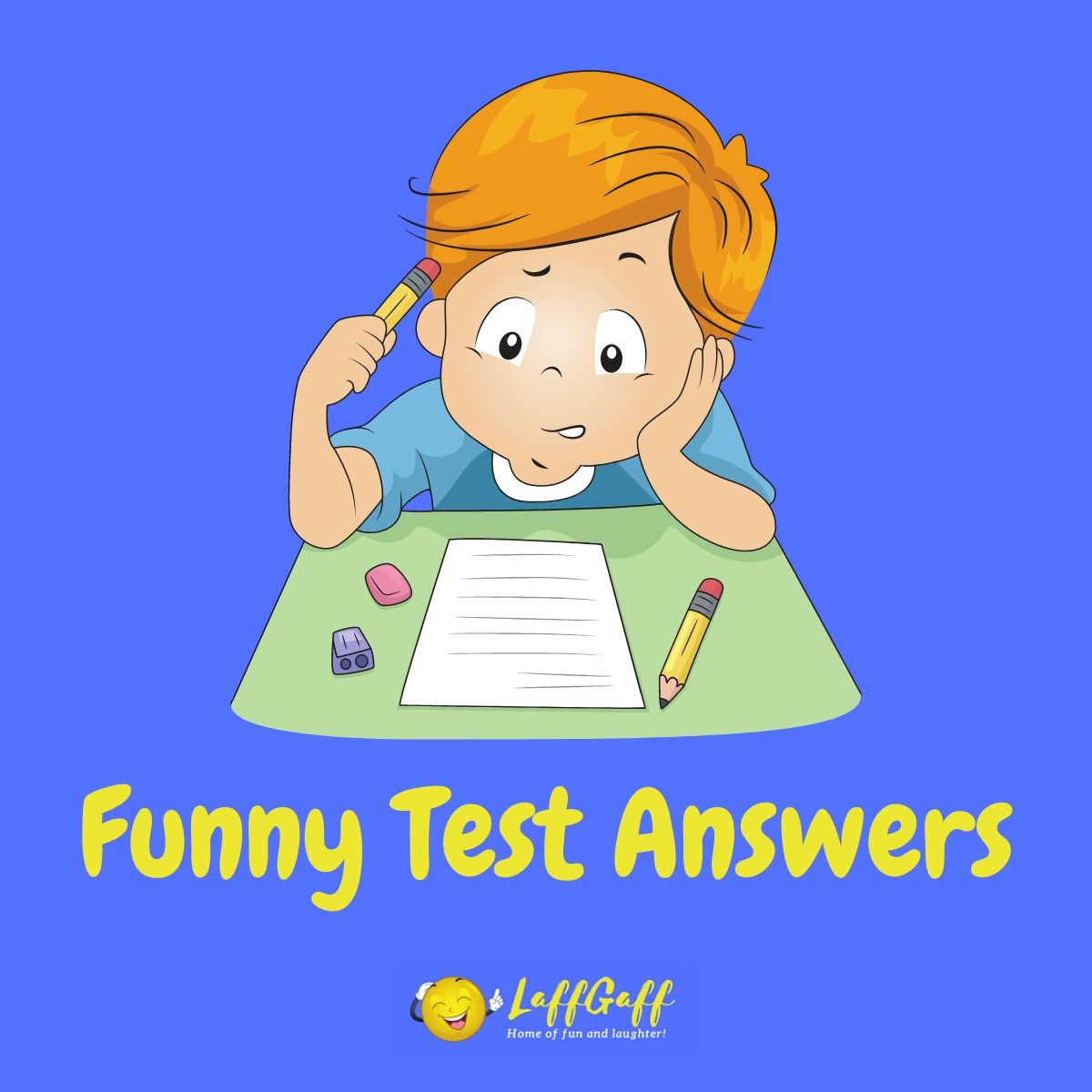 Featured image for a page of genuinely funny test answers and exam howlers.