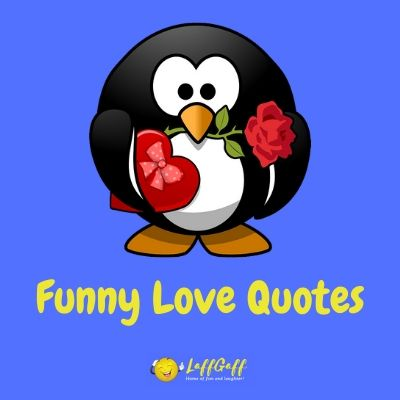 Featured image for a page of funny love quotes.