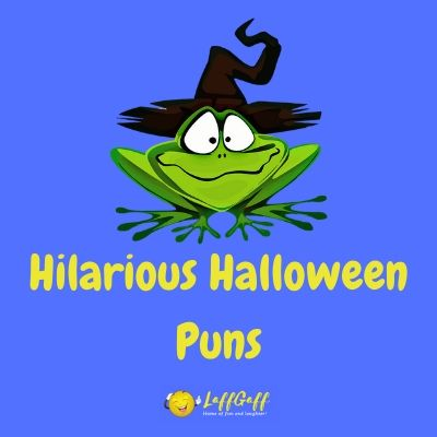 Featured image for a page of hilarious Halloween puns.
