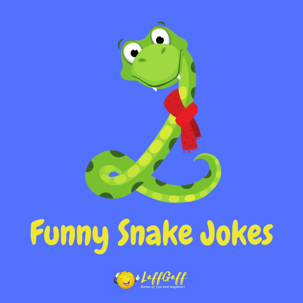 Featured image for a page of funny snake jokes and puns.