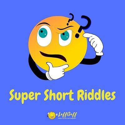 Featured image for a page of super short riddles.