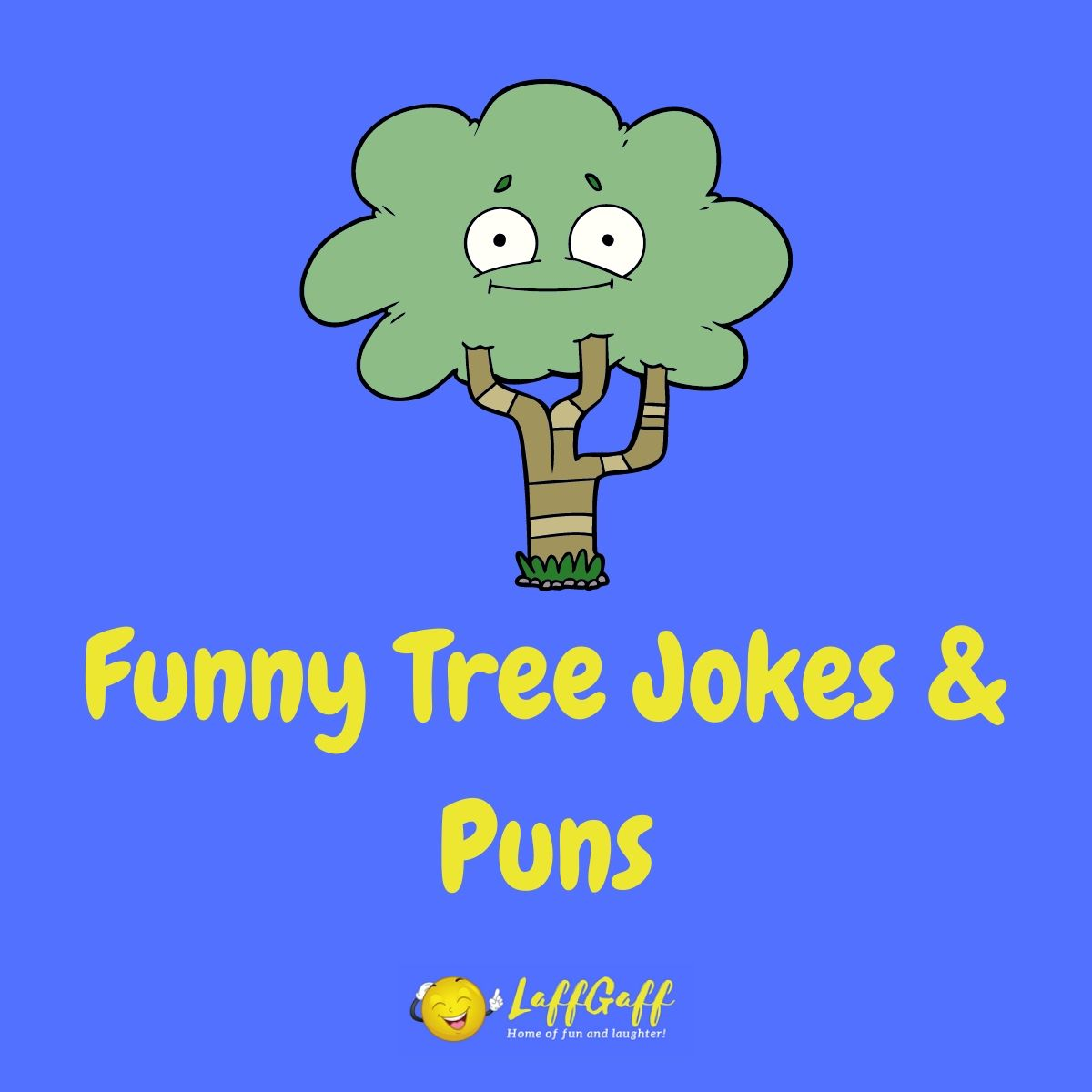 Featured image for a page of funny tree jokes and puns.