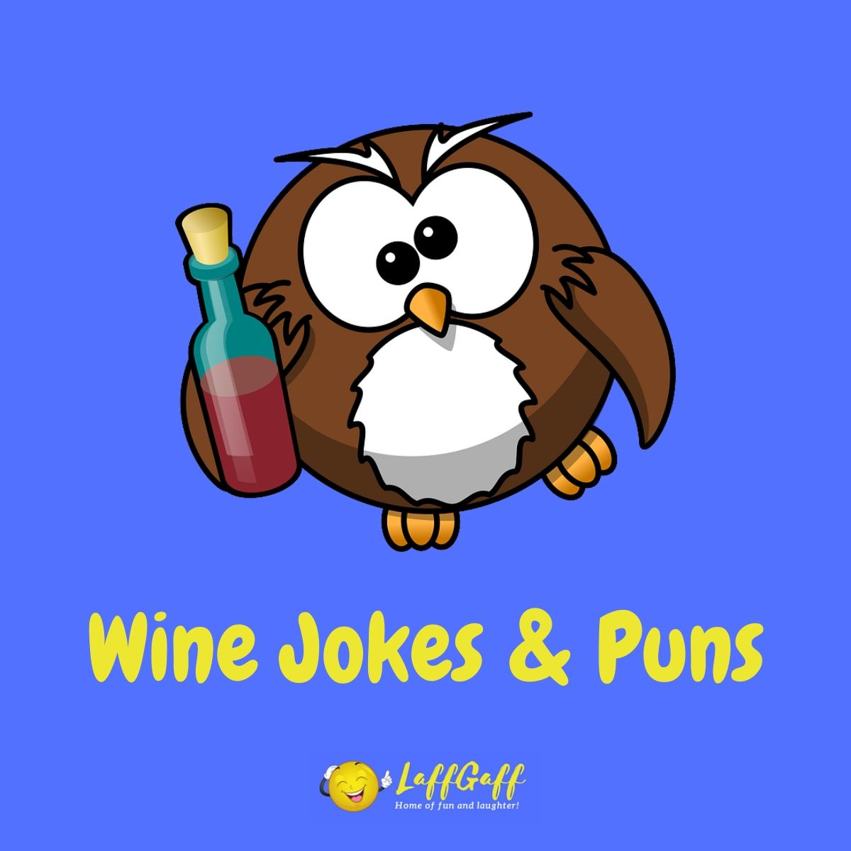 Featured image for a page of funny wine jokes and puns.