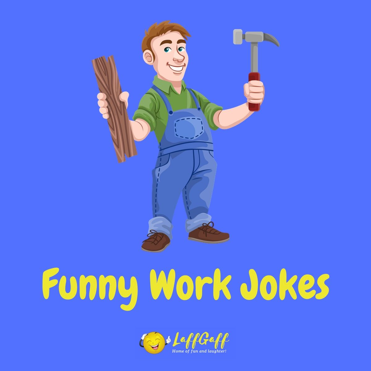 Featured image for a page of funny work jokes and puns.