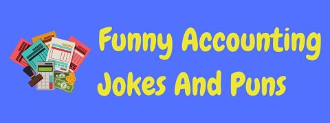 Header image for a page of funny accounting jokes and puns.