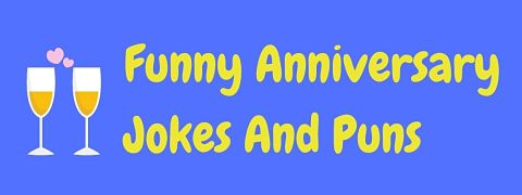 Header image for a page of funny anniversary jokes.