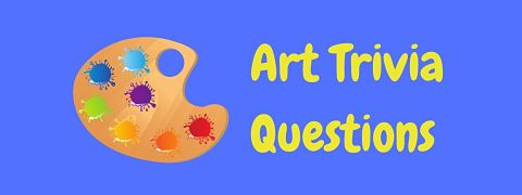 Header image for a page of art trivia questions and answers.