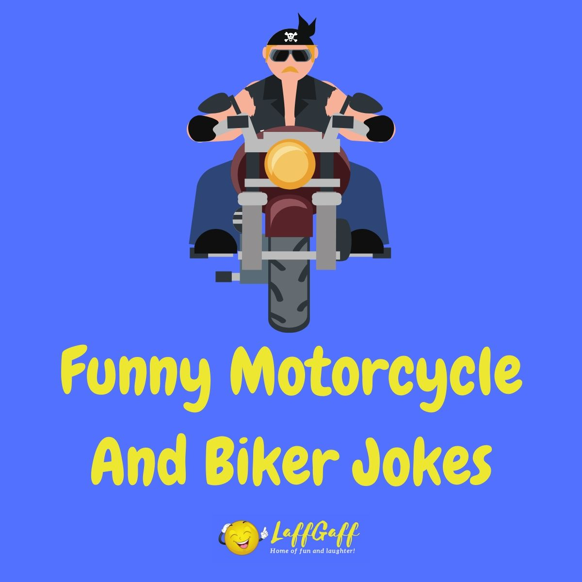 Featured image for a page of funny motorcycle jokes and biker jokes.