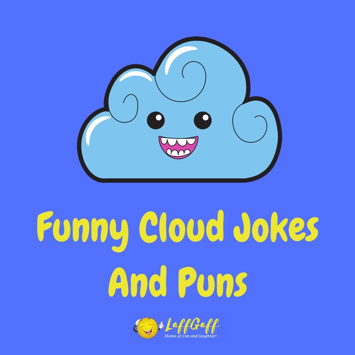 Featured image for a page of funny cloud jokes and puns.