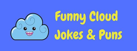 Header image for a page of funny cloud jokes and puns.